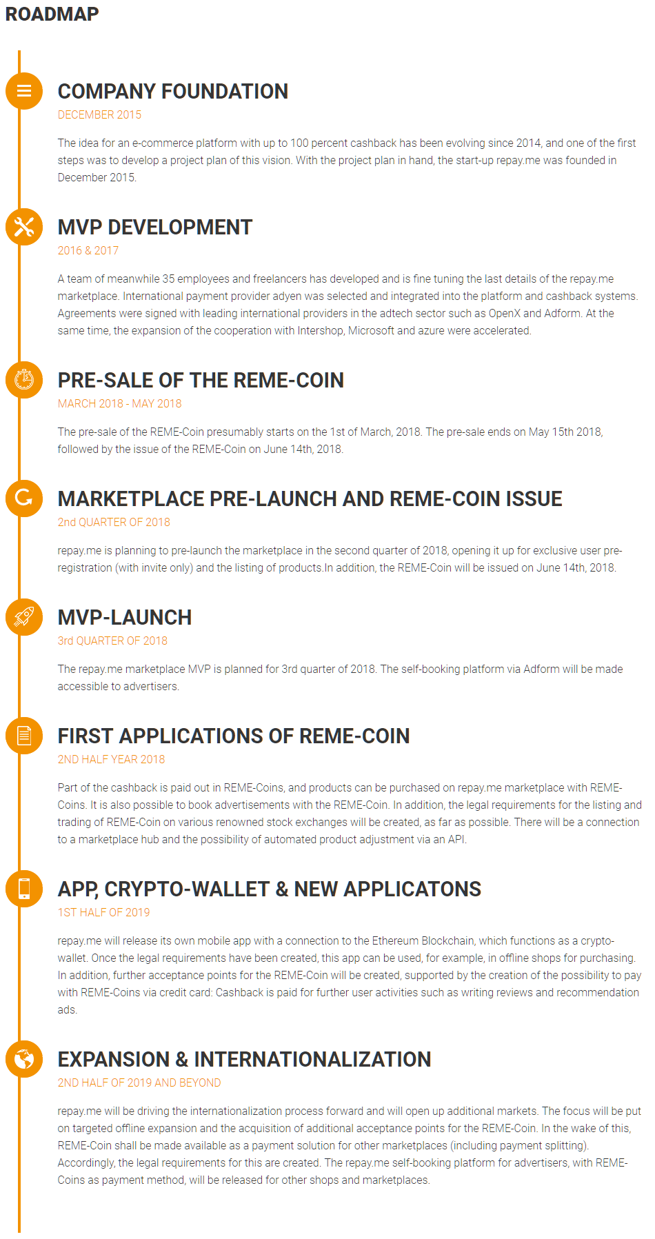 remecoin.io roadmap